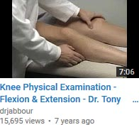 Knee Physical Examination